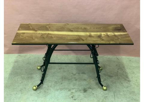Custom black walnut coffee table